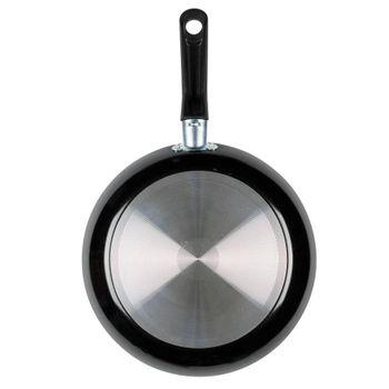 Sartén de 24 cm. Ekco Classic de Aluminio Color Negro con Duraflon® de Alto Rendimiento