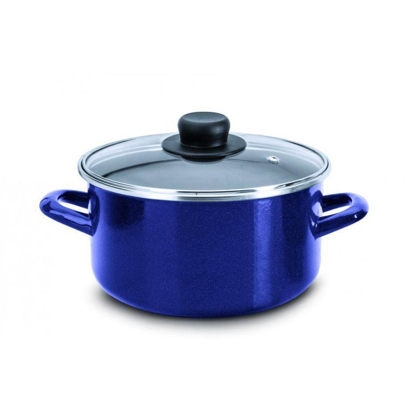 Olla-Ekco-Acero-esmaltado-Color-Azul-con-Tapa-de-Vidrio-de-alta-resistencia-tienda-en-linea-La-Vasconia