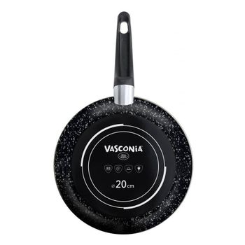 Sartén Vasconia Master de Acero Vitrificado Color Negro Ónix con Duraflon® Rustic Granite