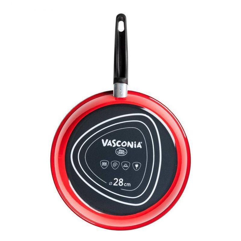 Sarten-Vasconia-Basicos-de-Vitroacero®-Color-Rojo-con-Duraflon®-Rustic-Granite-tienda-en-linea-La-Vasconia