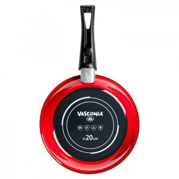 Sartén Vasconia Viva colors de Vitroacero® Color Rojo con Duraflon® Rustic Granite