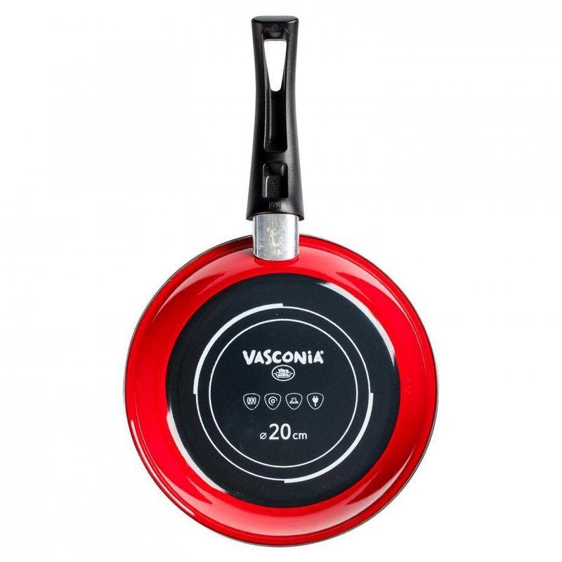 Sarten-Vasconia-Viva-colors-de-Vitroacero®-Color-Rojo-con-Duraflon®-Rustic-Granite-tienda-en-linea-La-Vasconia