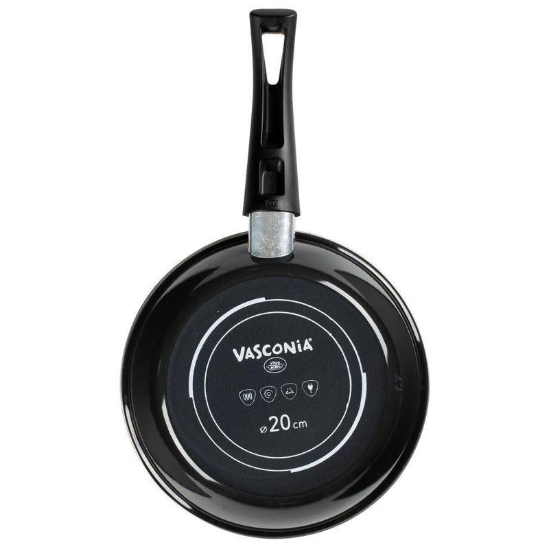 Sarten-Vasconia-Viva-colors-de-Vitroacero®-Color-Negro-con-Duraflon®-Rustic-Granite-tienda-en-linea-La-Vasconia