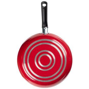 Sartén Ekco Classic de Aluminio Color Rojo con Duraflon® de Alto Rendimiento