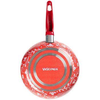 Sartén Vasconia Trendy de Aluminio Color Rojo con Duraflon® de Alto Rendimiento