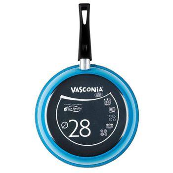 Sartén Vasconia Viva colors de Vitroacero® Color Azul con Duraflon® PRO