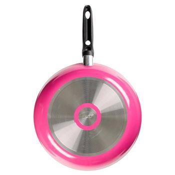Sartén de 30 cm. Ekco Classic de Aluminio Color Pink flower con Duraflon® de Alto Rendimiento