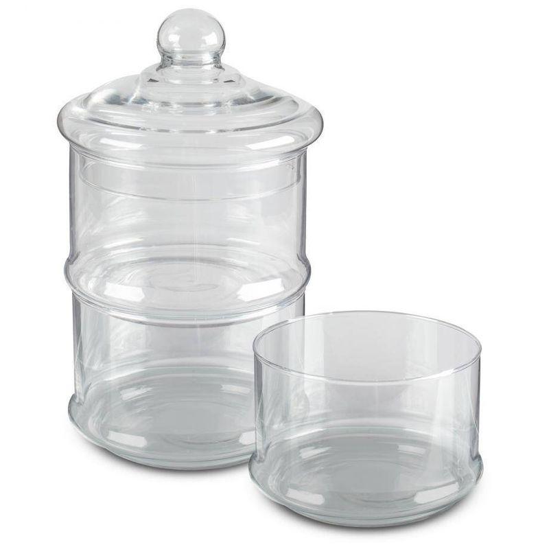 Set-de-canister-apilables-Lacafetiere-de-Cristal-Color-Rosa-metalico-tienda-en-linea-La-Vasconia