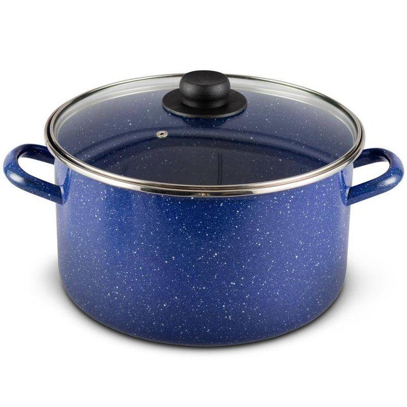 Olla-recta-de-26-cm.-Ekco-Acero-esmaltado-Color-Azul-con-Tapa-de-Vidrio-Un-sistema-multicapa-que-protege-el-brillo-tienda-en-linea-La-Vasconia