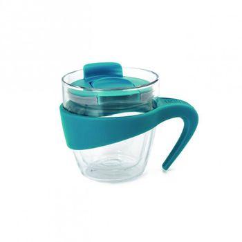 Taza de viaje de 350 ml. Mug tea Lacafetiere de Vidrio Color Azul