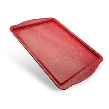 Charola mediana spatter Vasconia Bakers advantages de Acero carbonizado Color Rojo moteado con Duraflon® Rustic Granite