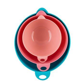 Set mixing bowls Ekco Tendencias de 3 Piezas de Plástico Color Azul, rosa y rosa claro