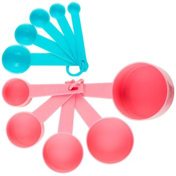 Set de tazas y cucharas medidoras Ekco Tendencias de 10 Piezas de Polipropileno Color Rojo