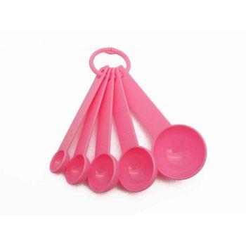 Juego de cucharas medidoras Ekco Bakers secrets de 5 Piezas de Polipropileno Color Rosa