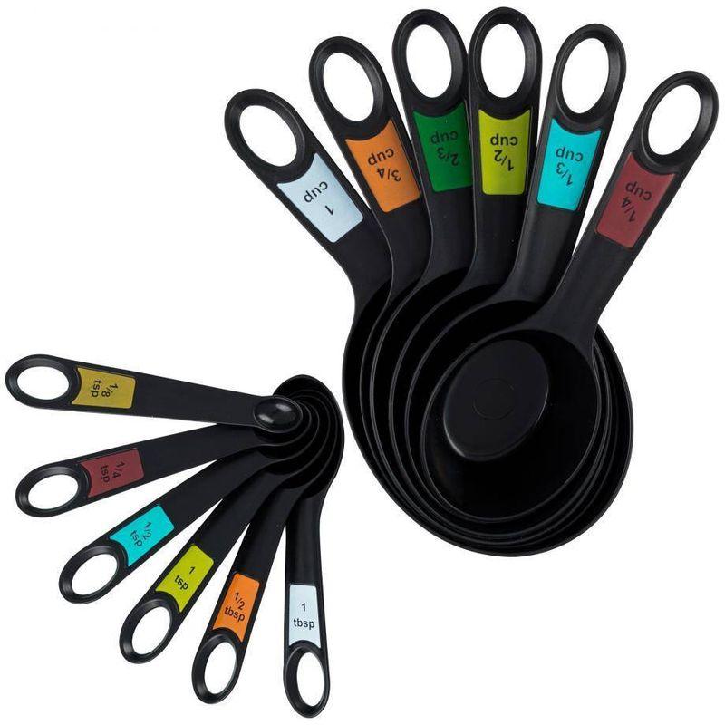 Set-de-medidores-Farberware-de-12-Piezas-de-Polipropileno-Color-Negro-tienda-en-linea-La-Vasconia