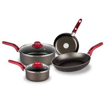 Batería de Cocina Palermo Ekco Evolution de 6 Piezas de Aluminio Color Negro con Duraflon® de Alto Rendimiento
