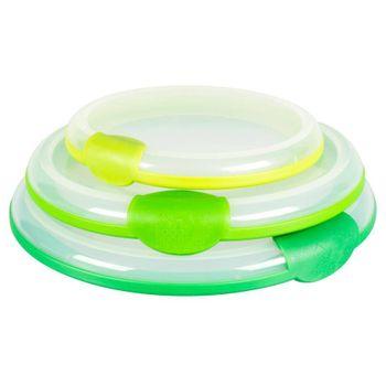 Tapas para Bowl Farberware de 3 Piezas de Polipropileno Color Verde