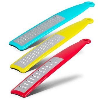 3 Ralladores de diferente gramaje Farberware de 3 Piezas de Aluminio Color Turquesa, Lima y Rojo