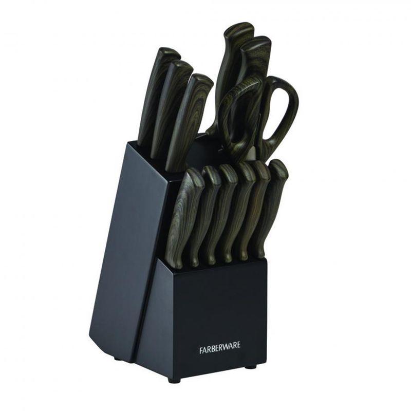 Bloque-de-Cuchillos-de-13-Piezas-Gris-Farberware-con-mango-Soft-Touch-tienda-en-linea-La-Vasconia