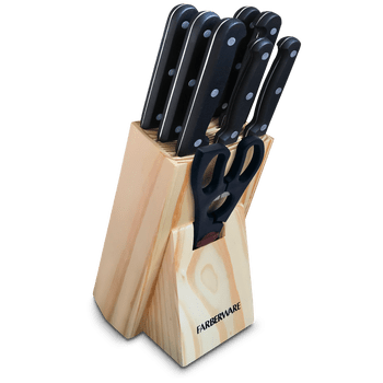 Bloque de Cuchillos Farberware de 9 piezas de Acero Inoxidable
