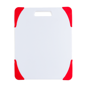 Tabla para picar de 8x10 cm. Ekco Evolution de Polipropileno Color Blanco y rojo