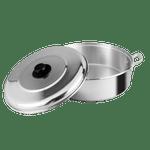 Arrocera-de-45-cm.-Ekco-Classic-de-2-Piezas-de-Aluminio-Color-Plateado-Pulido-con-Tapa-de-Aluminio-y-Alta-durabilidad-tienda-en-linea-La-Vasconia