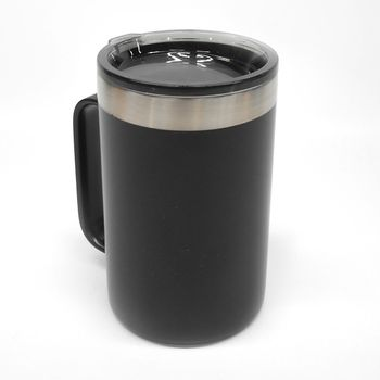 Taza acero inoxidable 540 ml negra