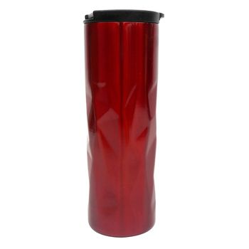Termo Diamante de Acero Inoxidable de 500ml Color Rojo