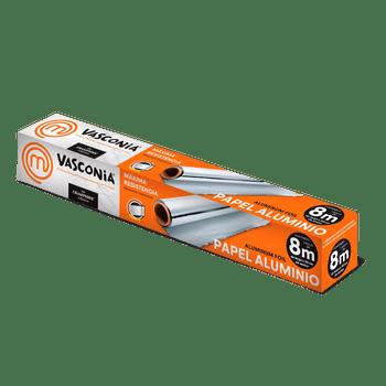 Papel Aluminio Vasconia MasterChef de 8m. Ultra resistente con tecnología Oxygen3 Health System®