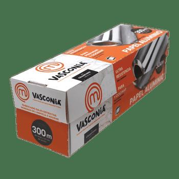Papel Aluminio Vasconia MasterChef de 300m. Ultra resistente con tecnología Oxygen3 Health System®