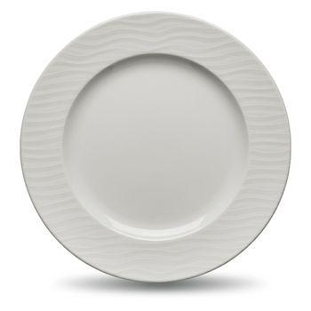 Plato de ensalada de porcelana modelo Ripple