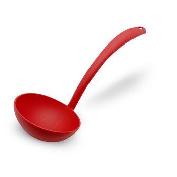Cucharon de nylon rojo