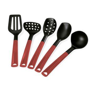 Set de utensilios Vasconia de 5 piezas rojo tempo allegro