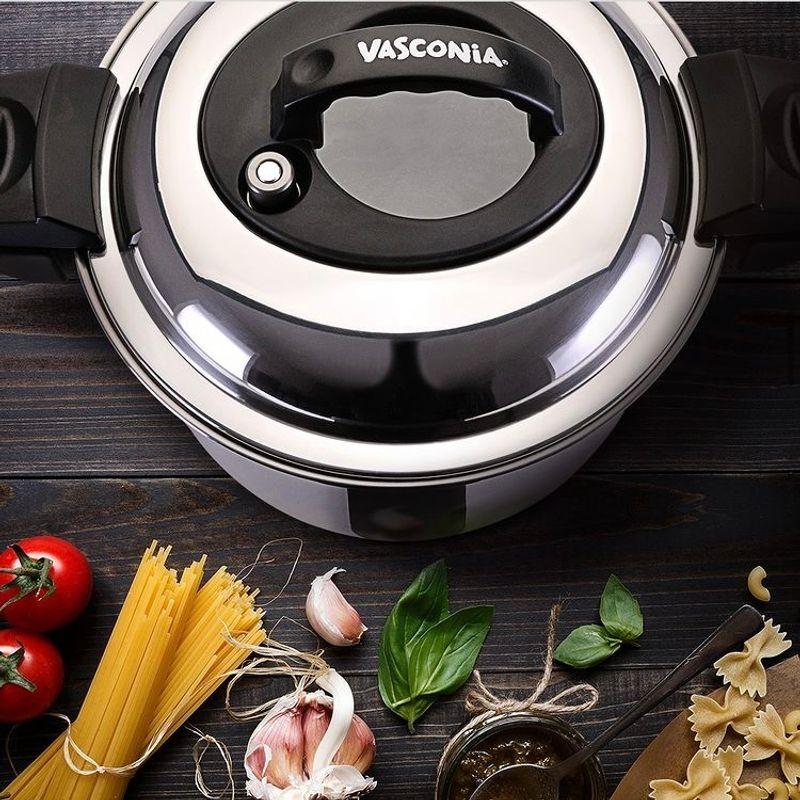 Olla-de-coccion-rapida-de-6L.-con-tecnologia--Double-Handle--Vasconia-Master-de-Acero-inoxidable-Color-Plata-tienda-en-linea-La-Vasconia