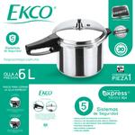 Olla-Express®-de-6L-litros-Ekco-Plata-hecha-de-Aluminio-con-5-Sistemas-de-seguridad.-