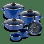 Bateria-de-Cocina-Victoria-Ekco-Acero-esmaltado-de-9-Piezas-Color-Azul-y-Brillo-perdurable-tienda-en-linea-La-Vasconia