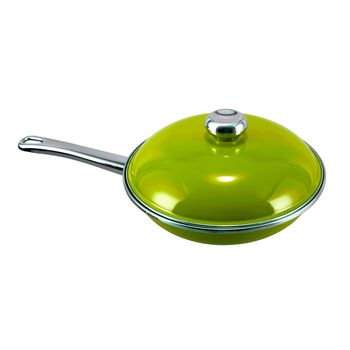 Sartén Verde Vita Con Tapa, Exterior Vitrificado y Antiadherente Moonscape de Alta gama