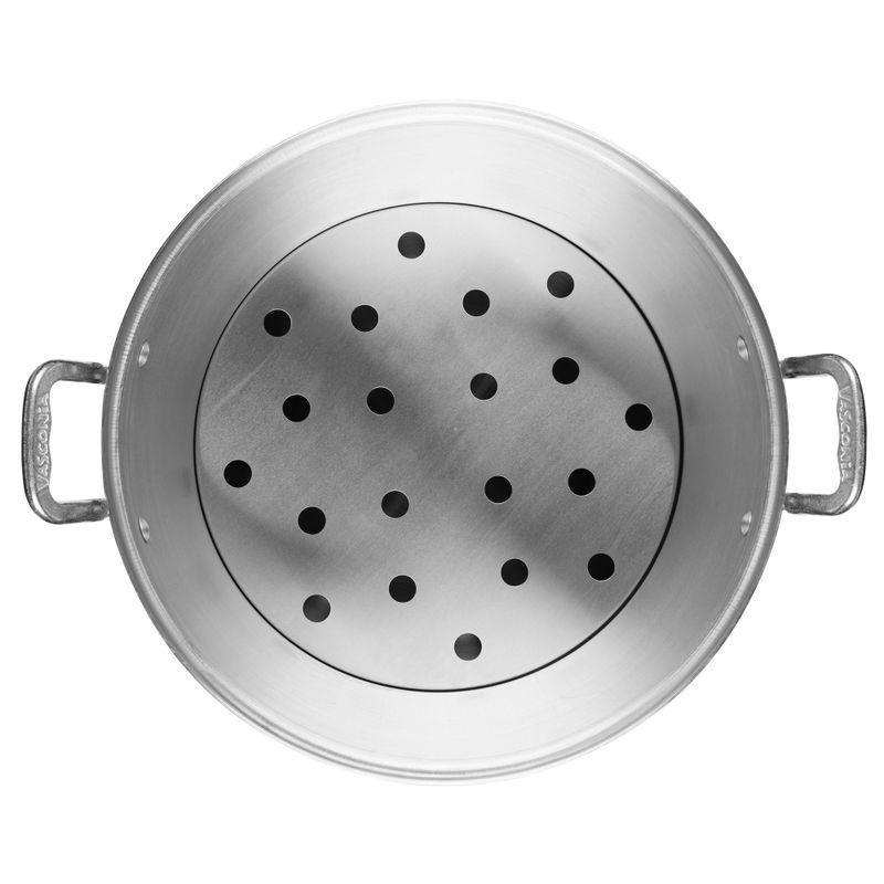 Vaporera-Vasconia-Basicos-de-Aluminio-Color-Plateado-Pulido-con-Tapa-de-Aluminio-y-Alta-durabilidad-tienda-en-linea-La-Vasconia