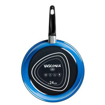 Sartén de 24 cm. Vasconia Básicos de Vitroacero® Color Azul con Duraflon® Rustic Granite