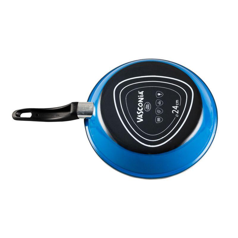 Sarten-de-24-cm.-Vasconia-Basicos-de-Vitroacero®-Color-Azul-con-Duraflon®-Rustic-Granite-tienda-en-linea-La-Vasconia
