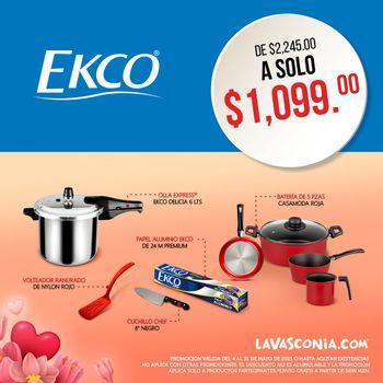 Kit Ekco Casamoda Mayo 2021 con Antiadherente de alta resistencia