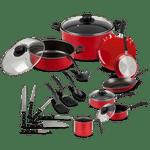 Bateria-de-Cocina-Ekco-Sabor-Rojo-de-22-piezas-conantiadherente-tienda-en-linea-La-Vasconia