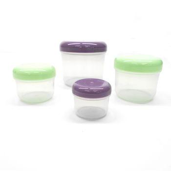 4 Pack de Mini Herméticos Ekco Snack Colors de 59/118/236/472ml hechos de Polipropileno