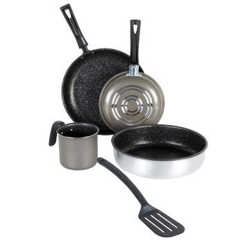 Batería de Cocina Deleite Molde de 5 Piezas hecha de Aluminio color Gris con Antiadherente Duraflon®