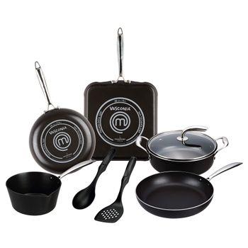 Batería de Cocina 8 piezas (2.5mm) Masterchef con Tecnología Easy Clean 360