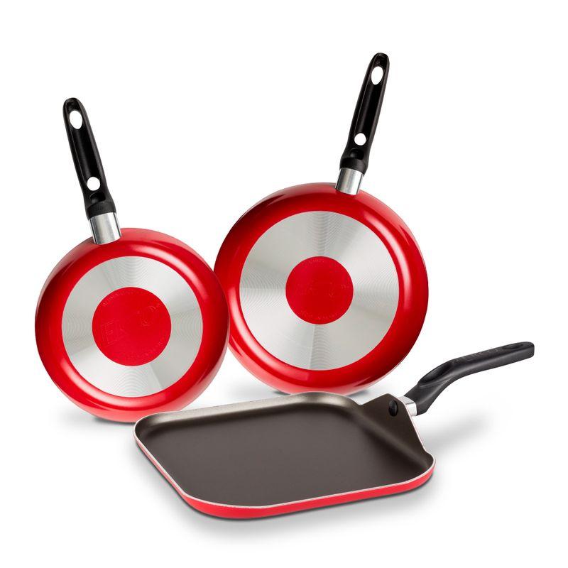 Pack-de-Cocina-de-Sartenes-y-plancha-Ekco-Classic-de-3-Piezas-de-Aluminio-Color-Rojo-con-Duraflon®-de-Alto-Rendimiento-tienda-en-linea-La-Vasconia