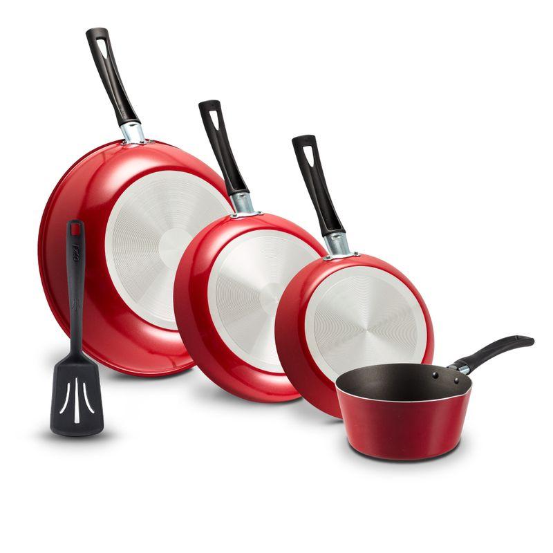 5-Pack-de-Sartenes-Ferrari-Ekco-Classic-de-5-Piezas-de-Aluminio-Color-Rojo-con-Duraflon®-de-Alto-Rendimiento-tienda-en-linea-La-Vasconia