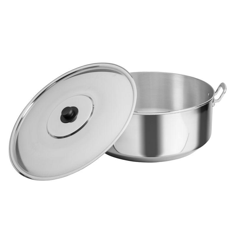 Arrocera-de-55-cm.-Vasconia-Pro-de-2-Piezas-de-Aluminio-Color-Plateado-Pulido-con-Tapa-de-Aluminio-y-Alta-durabilidad-tienda-en-linea-La-Vasconia