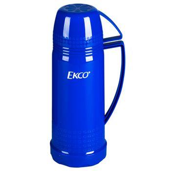 Termo Ekco Classic de Ampolla de vidrio Color Azul con Tapa-taza y Tapa anti-derrames