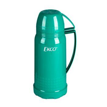 Termo de 1 litro Ekco Classic de Ampolla de vidrio Color Verde turquesa con Tapa-taza y Tapa anti-derrames